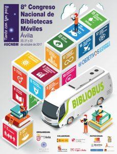 Cartel 8º Congreso Nacional de Bibliotecas Móviles