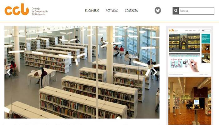 Imagen de la web Consejo de Cooperación Bibliotecaria