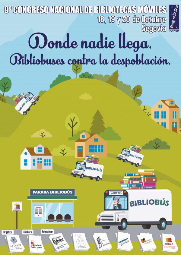 Cartel del congreso nacional de bibliotecas móviles