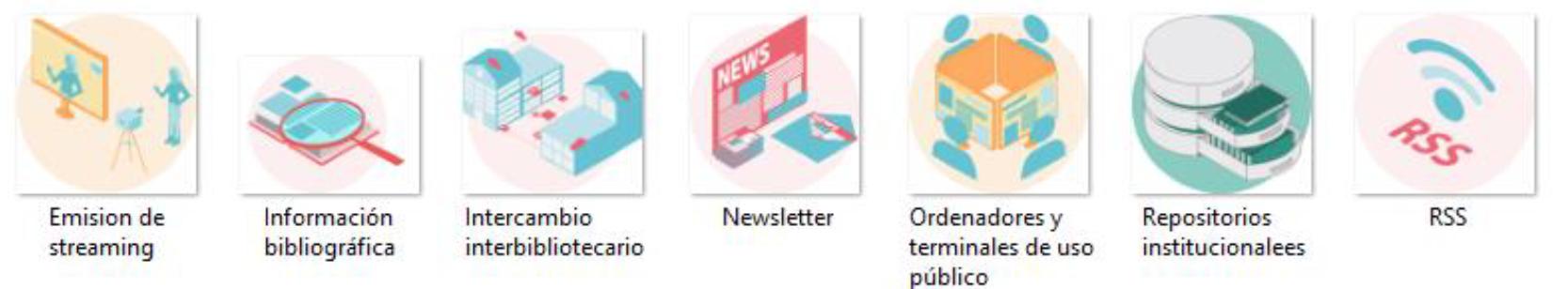 Infografía Servicios Digitales de Bibliotecas
