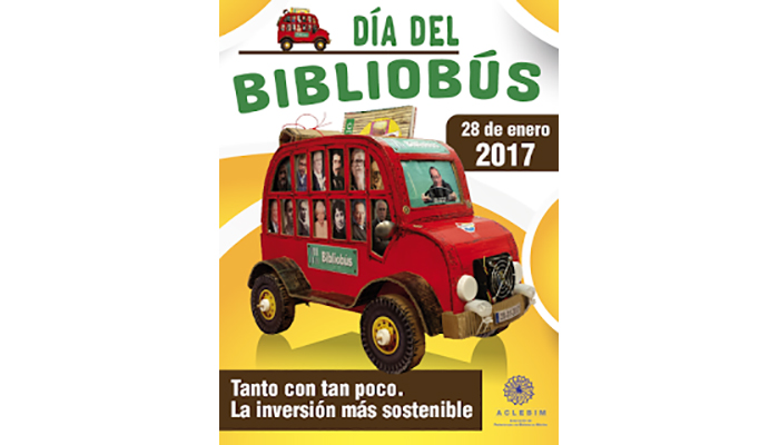 Cartel día del bibliobús 28 enero 2017