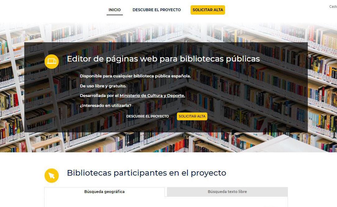 Nuevo generador sedes web bibliotecas públicas españolas